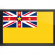 Niue flag on smartphone screen isolated — Stock Photo