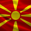Macedonia flag blowing in the wind — Stock Photo #34414303