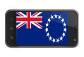 The Cook Islands flag on smartphone screen isolated — Stock fotografie