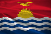 Kiribati flag blowing in the wind — Stok fotoğraf