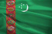 Turkmenistan flag blowing in the wind — Stock Photo