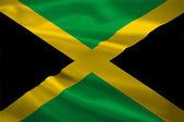 Drapeau de la Jamaïque dans le vent — Photo