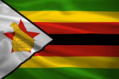 Zimbabwe flag blowing in the wind — Stock Photo