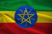 Ethiopia flag blowing in the wind — Stock Photo