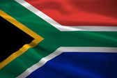 South Africa flag blowing in the wind — Stock Photo