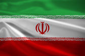 Iran flag blowing in the wind — Stock Photo