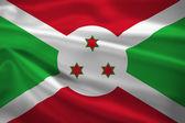 Burundi flag blowing in the wind — Stock Photo