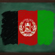 Afghanistan flag painted with chalk on blackboard — Stock Photo