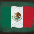 Stock Photo: Mexico flag painted with chalk on blackboard