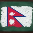 Nepal flag painted with chalk on blackboard — Stock Photo