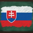 Slovakia flag painted with chalk on blackboard — Stock Photo