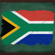 South Africa flag painted with chalk on blackboard — Stock Photo