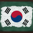 South Korea flag painted with chalk on blackboard — Stock Photo #34610937