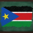 South Sudan flag painted with chalk on blackboard — Stock Photo #34610943
