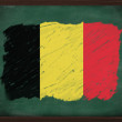 Belgium flag painted with chalk on blackboard — Stock Photo