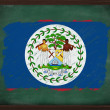 Belize flag painted with chalk on blackboard — Stock Photo