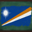 Marshall islands flag painted with chalk on blackboard — Stock Photo