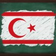 Turkish Republic of Northern Cyprus flag painted with chalk on b — Stock Photo