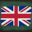 Stock Photo: United Kingdom flag painted with chalk on blackboard