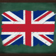 United Kingdom flag painted with chalk on blackboard — Stock Photo