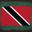 Trinidad and Tobago flag painted with chalk on blackboard — Stock Photo