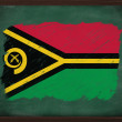 Vanuatu flag painted with chalk on blackboard — Stockfoto