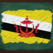 Brunei flag painted with chalk on blackboard — Stock Photo