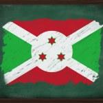 Burundi flag painted with chalk on blackboard — Stock Photo #34611381