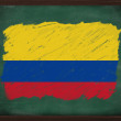Colombia flag painted with chalk on blackboard — Stock Photo