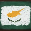 Cyprus flag painted with chalk on blackboard — Stock Photo
