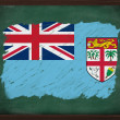 Fiji flag painted with chalk on blackboard — Стоковая фотография
