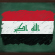 Iraq flag painted with chalk on blackboard — 图库照片