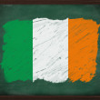 Ireland flag painted with chalk on blackboard — Stock Photo