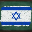 Israel flag painted with chalk on blackboard — Stock Photo