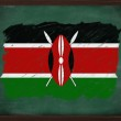 Kenya flag painted with chalk on blackboard — Stock Photo #34611701