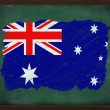 Australia flag painted with chalk on blackboard — Stock Photo