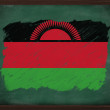 Malawi flag painted with chalk on blackboard — Foto Stock