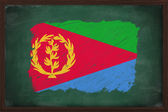 Eritrea flag painted with chalk on blackboard — Stock Photo