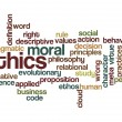 Stock Photo: Ethics moral philosophy background
