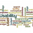 Stock Photo: Usability user project application concept background