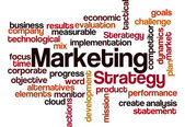 Marketing strategy concept background — Stock Photo