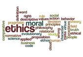 Ethics moral philosophy background — Stock Photo