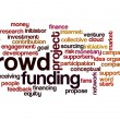 Crowd funding word cloud — Stock Photo #34760719