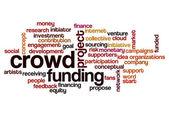 Crowd funding word cloud — Stock Photo