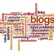 Stock Photo: Blog and blogging concept background