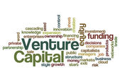 Venture capital funding investor concept background — Stock Photo