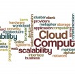 Stock Photo: Cloud computing scalability reliability background