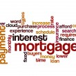 Stock Photo: Mortgage interest payment concept background