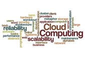 Cloud computing scalability reliability background — Stockfoto