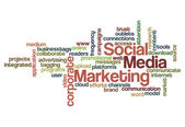 Social media marketing concept background — Stock Photo